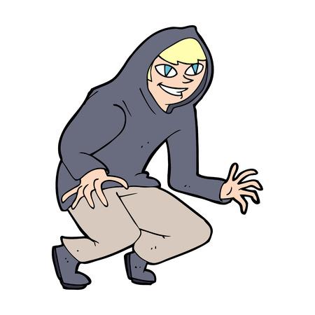 encapuchado: dibujos animados ni�o travieso en tapa encapuchada