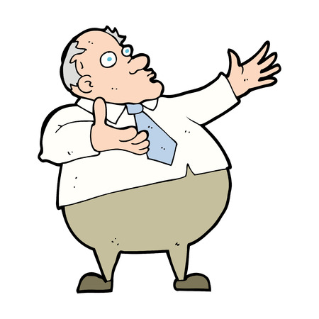 exasperated: cartoon exasperated middle aged man