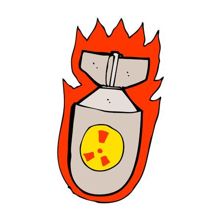 cartoon flaming bomb Vector