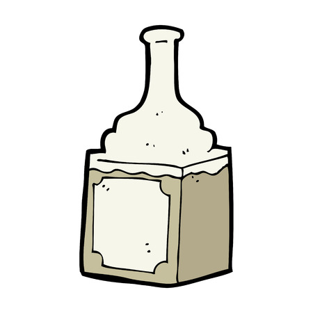 cartoon whiskey bottle Illustration