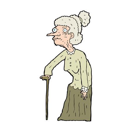 cartoon old woman Vector