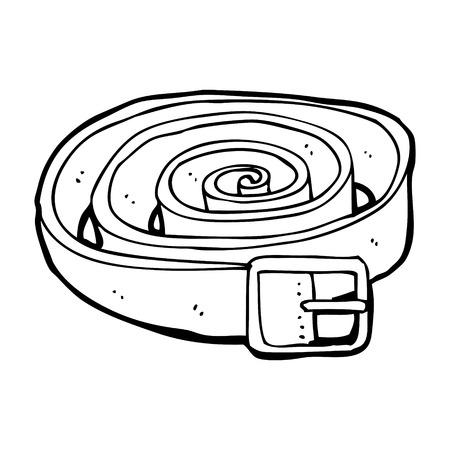 cintur�n de cuero: correa de cuero de la historieta Vectores