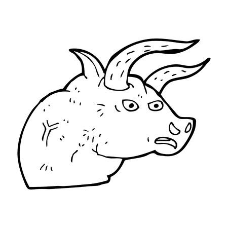toro arrabbiato: fumetto arrabbiato testa di toro