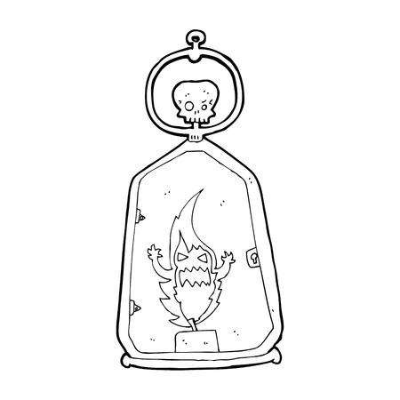 spook: cartoon spooky lantern Illustration