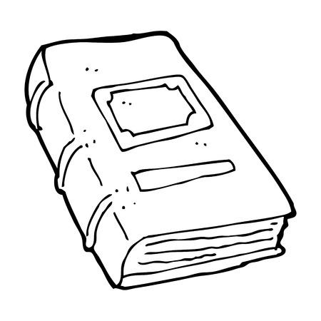 mani legate: cartone animato vecchio libro