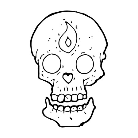 mystic: cartoon mystic skull
