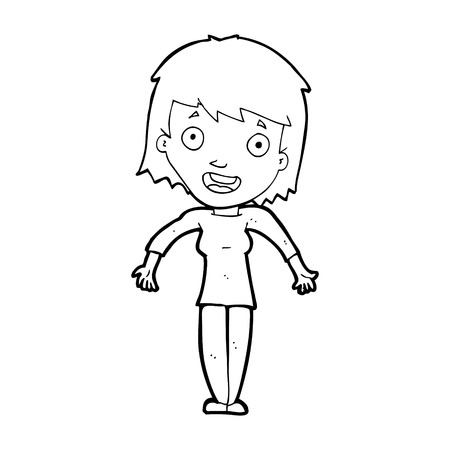 shrugging: cartoon woman shrugging shoulders