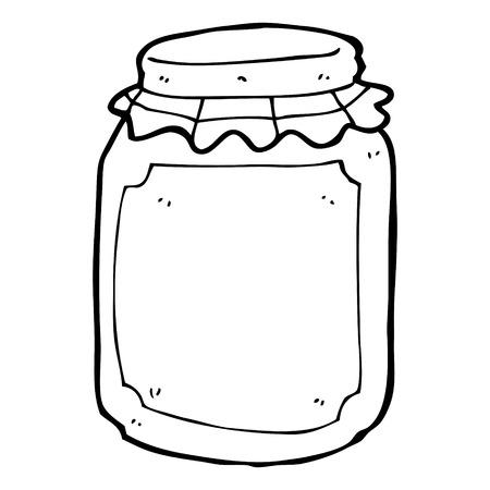 conserve: pot de bande dessin�e de pr�server