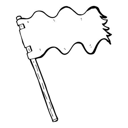 cartoon white flag