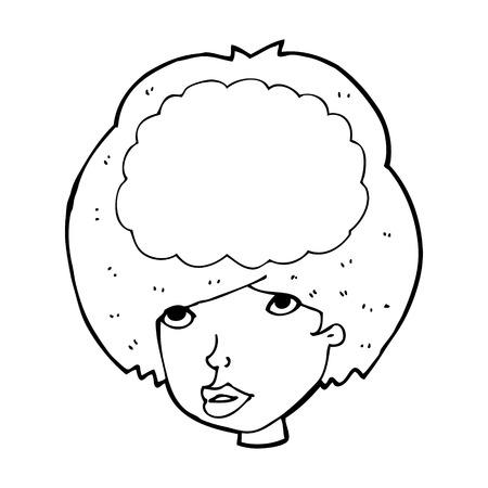 headed: cartoon empty headed woman