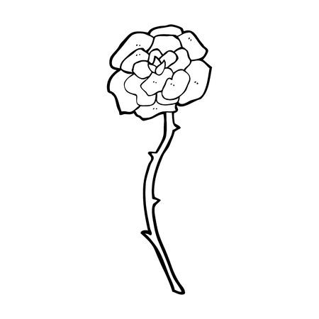 rose tattoo:  rose tattoo cartoon Illustration