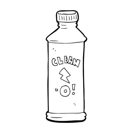 cartone animato prodotto di pulizia