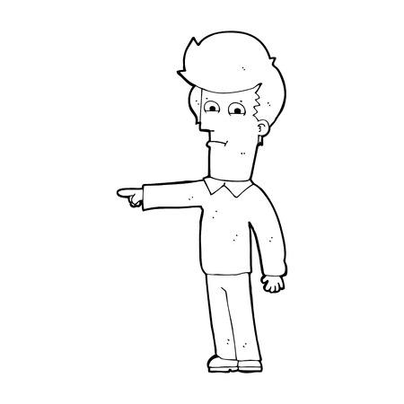 accuser: dessin anim� homme pointant Illustration