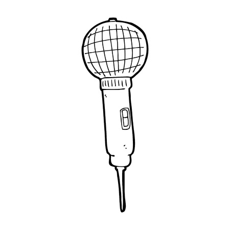 cartoon microphone Vector