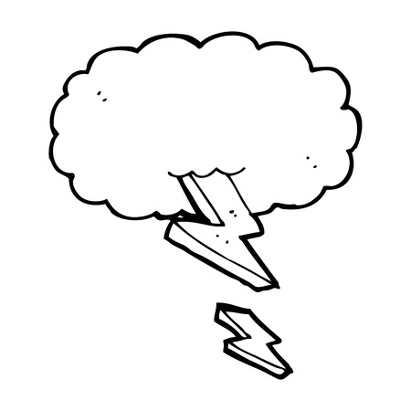 cartoon thundercloud Vector