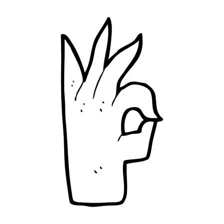 okay: cartoon okay hand gesture Illustration