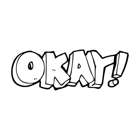 okay: cartoon okay sign Illustration