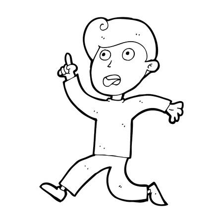 panicking: cartoon boy panicking Illustration
