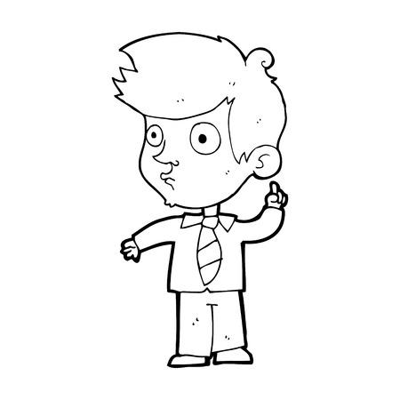 asking question: cartoon boy asking question