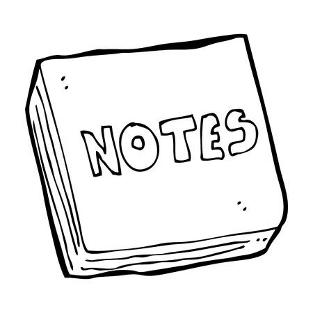 cartoon notes pad Stock Vector - 25017458