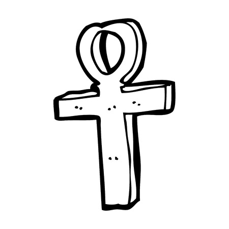 ankh: cartoon ankh symbol Illustration