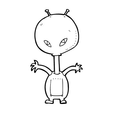 cartoon space alien Stock Vector - 25017418
