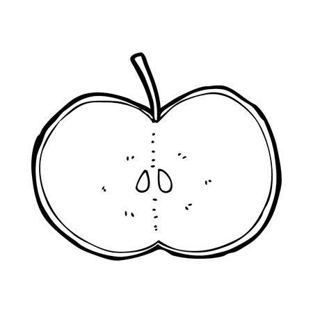 sliced: manzana de la historieta en rodajas Vectores