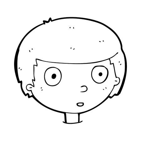 meraklı: karikatür meraklı çocuk Çizim