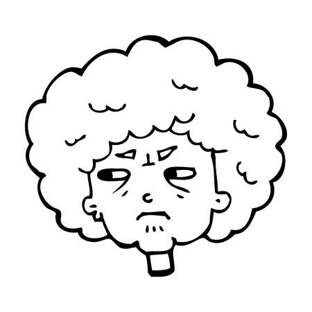 bitter: cartoon bitter old woman