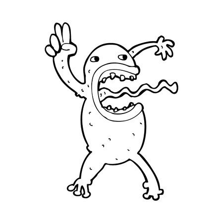 crazy frog: cartoon crazy frog Illustration