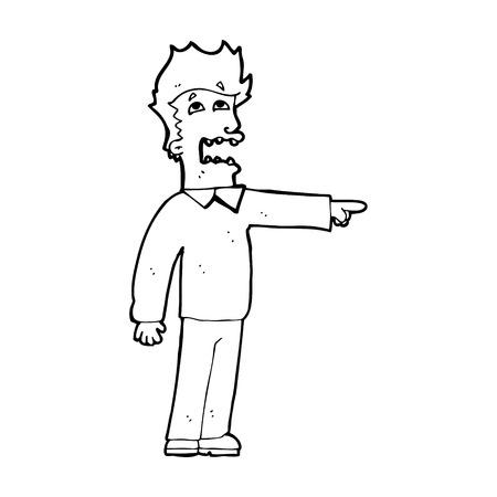 accusing: cartoon man accusing Illustration