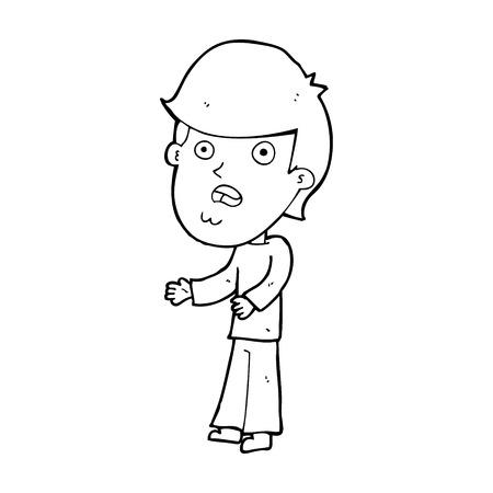 shocked man: cartoon shocked man