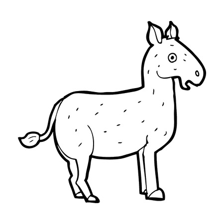 mule: cartoon mule