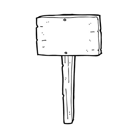 cartoon sign post 矢量图像