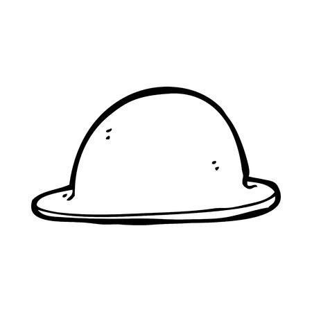 bowler hat: cartoon old bowler hat