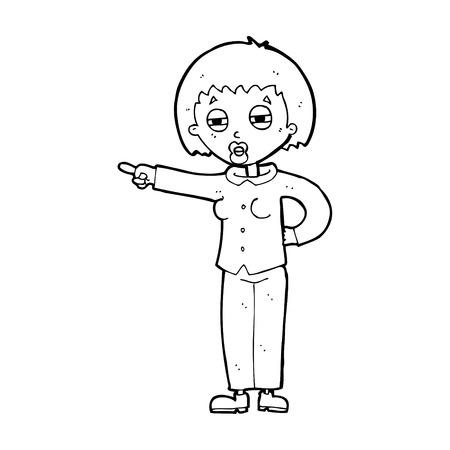 telling: cartoon woman telling off
