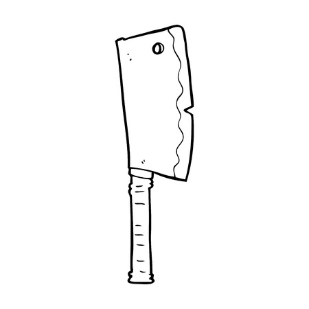 cleaver: cartoon meat cleaver