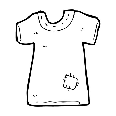 patched: cartoon patched old tee shirt
