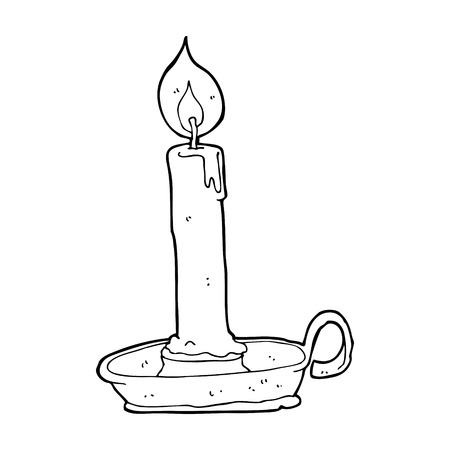 cartoon burning candle Vector