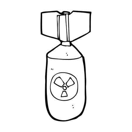cartoon nuclear bomb Stock Vector - 25015118
