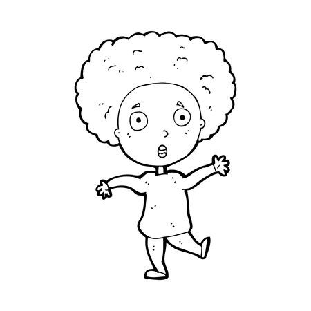 startled: cartoon startled person