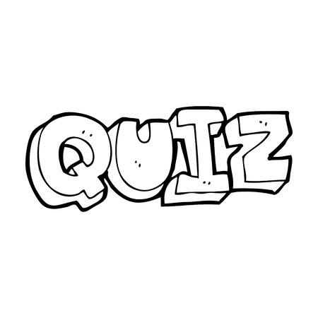 kwis: cartoon quiz teken Stock Illustratie