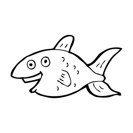 simple fish: cartoon fish