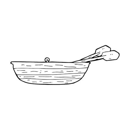 cartoon roeiboot