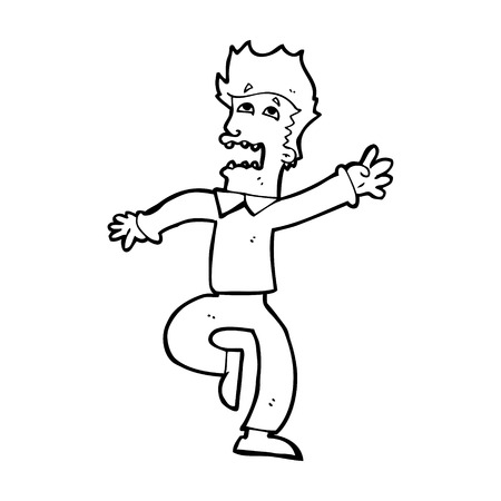 panicking: cartoon man panicking Illustration