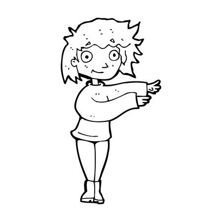 cartoon dancing woman Vector