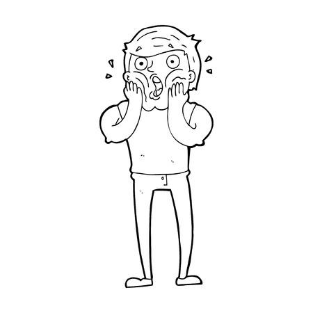 gasp: cartoon gasping man