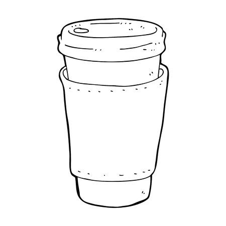 cartoon coffee cup