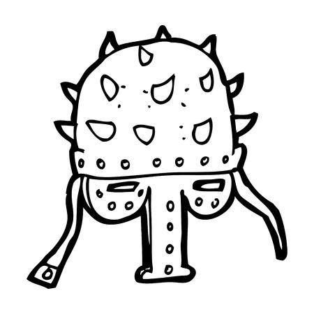 �spiked: dibujos animados de pinchos casco Vectores