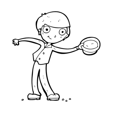 tipping: cartoon man tipping hat